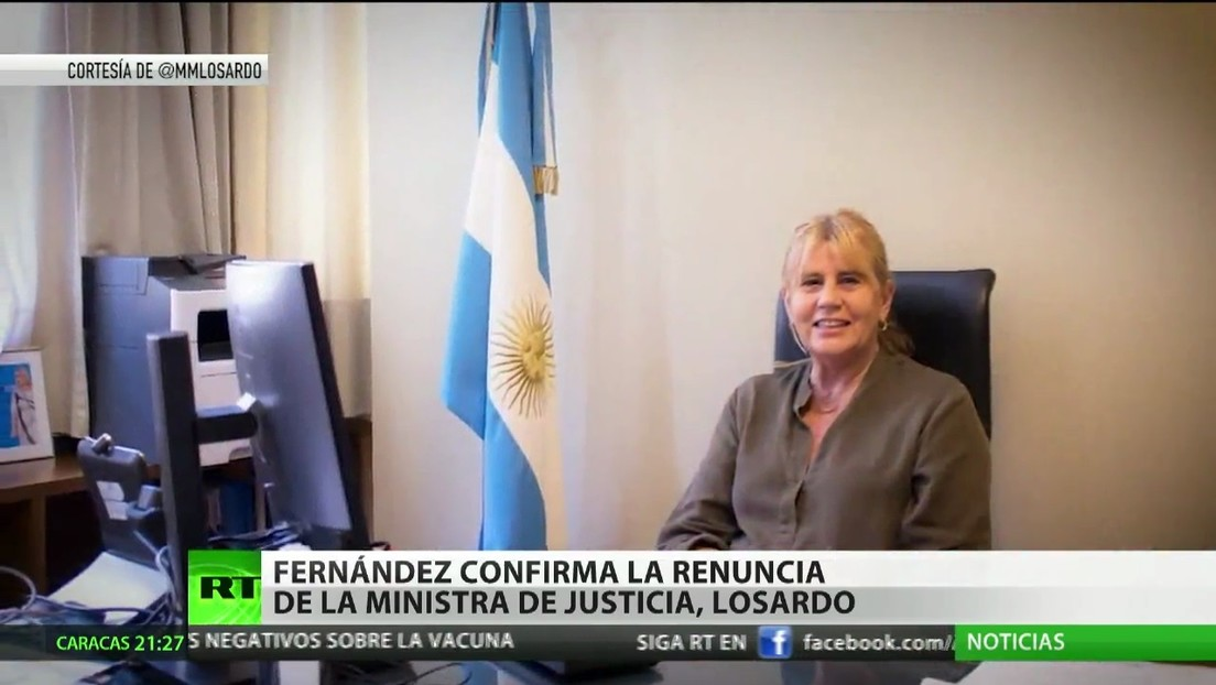 Fernández confirma la renuncia de la ministra de Justicia de Argentina