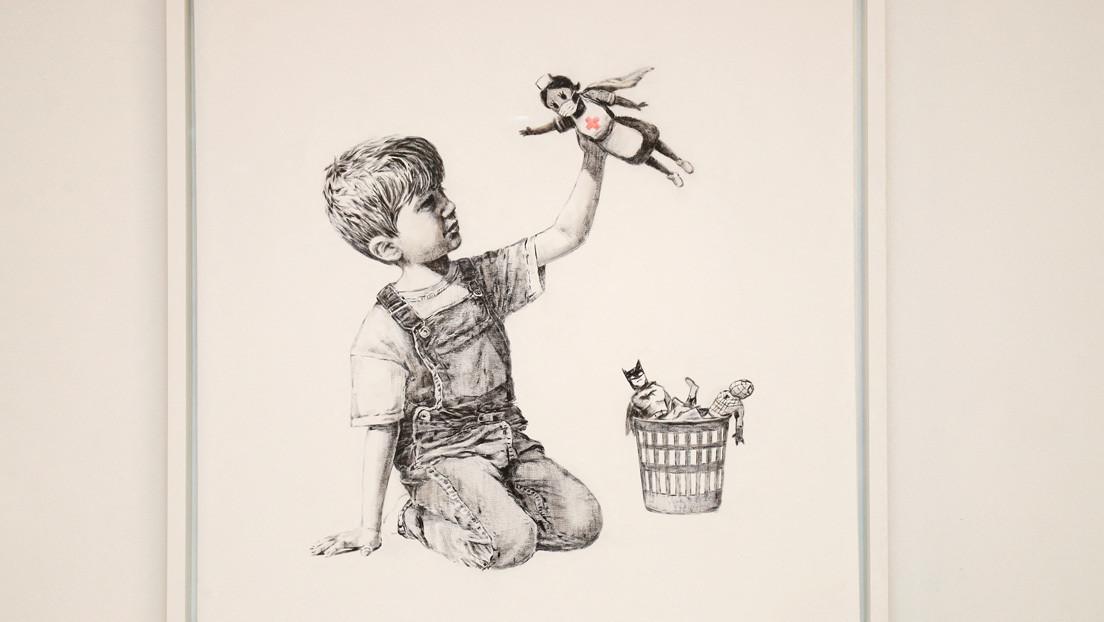 Banksy subasta una obra y cederá lo recaudado a los médicos