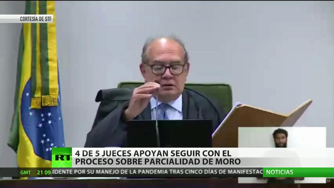 Brasil: 4 de los 5 jueces del Tribunal Supremo apoyan seguir con el proceso sobre parcialidad de Sergio Moro