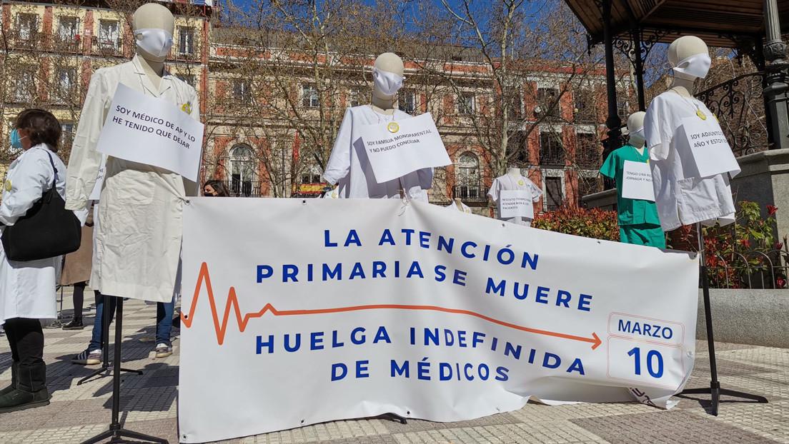 """""""No queremos que los médicos vean hasta 100 pacientes al día"""": Comienza en Madrid una huelga indefinida de médicos de atención primaria"""