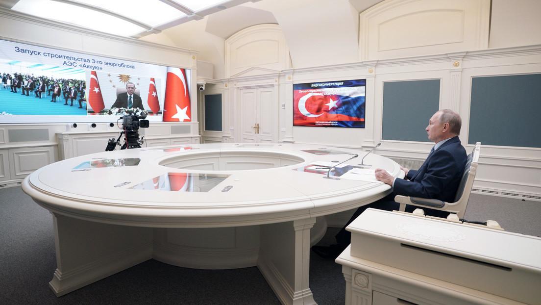 Putin y Erdogan dan inicio a la construcción de la tercera unidad de la central nuclear de Akkuyu