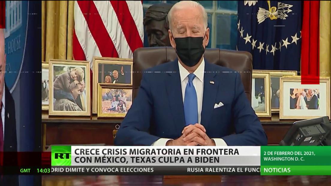 EE.UU.: Se agrava la crisis migratoria en la frontera con México y Texas culpa a Biden