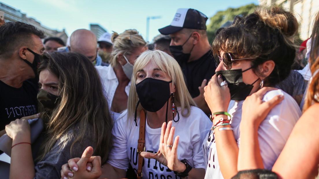 """""""Justicia por Diego"""": el clamor que invadió Buenos Aires para exigir castigo a los presuntos responsables de la muerte de Maradona"""