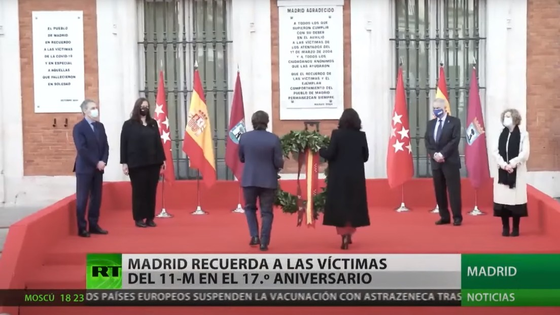 Madrid recuerda a las víctimas de los atentados del 11M en su 17.° aniversario