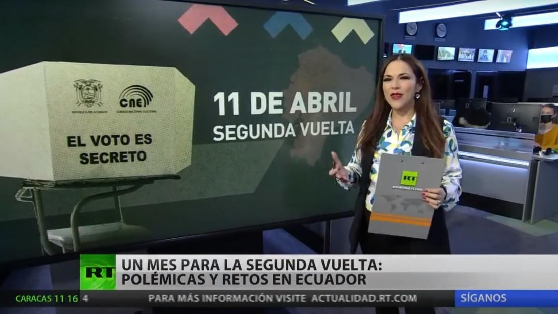 Polémicas y retos en Ecuador a un mes de la segunda vuelta electoral