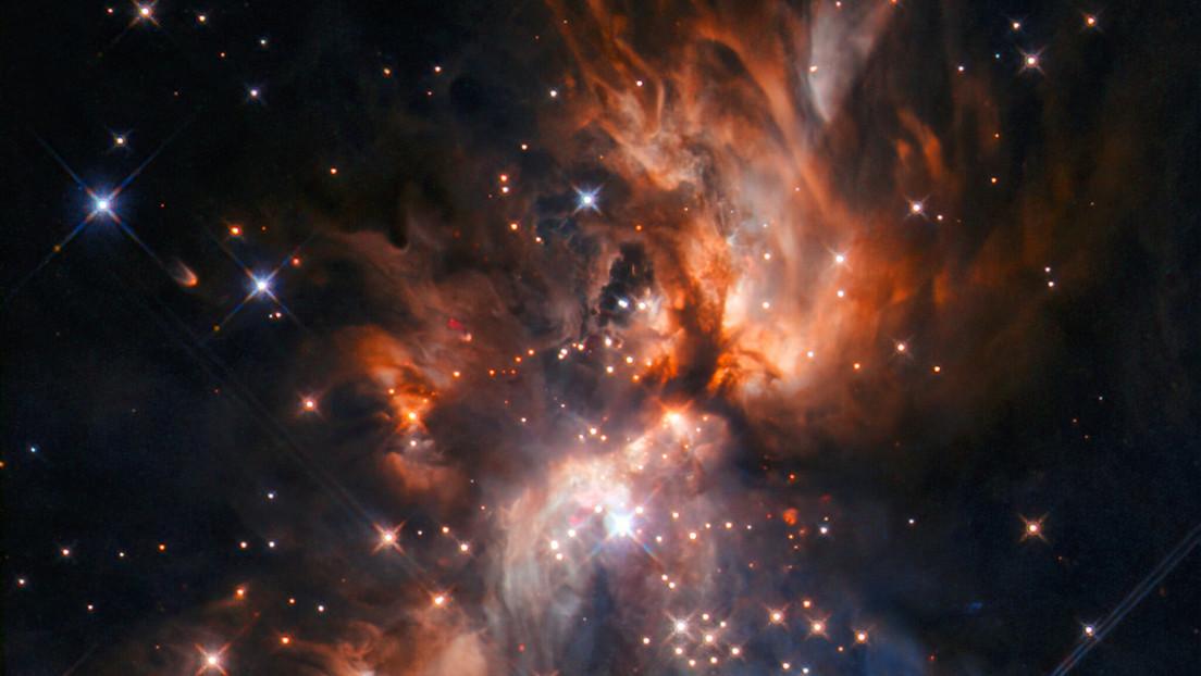 El telescopio Hubble capta imágenes impresionantes de la formación de una estrella, ubicada en la constelación Gemini