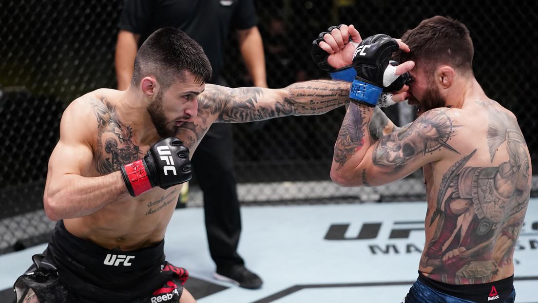 VIDEO: El debut de un luchador argentino en la UFC termina en una sangrienta derrota tras una brutal golpiza