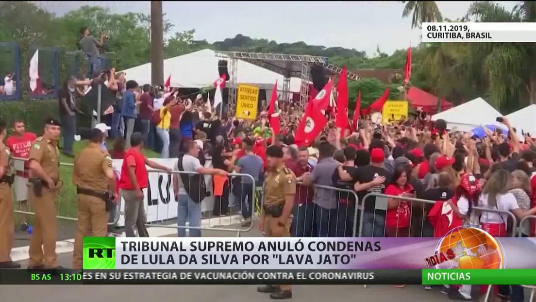 El Tribunal Supremo en Brasil anuló las condenas de Lula da Silva por 'Lava Jato'