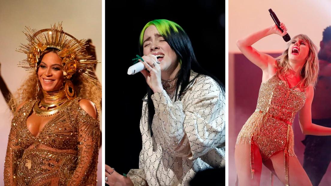 De Billie Eilish a Beyoncé y Taylor Swift: todos los ganadores y nominados de los Grammy 2021