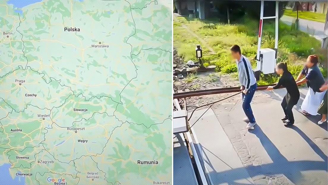 """""""Están robando las vías del tren"""": la imagen de Google Maps de unas personas transportando una viga se viraliza y genera múltiples interpretaciones"""