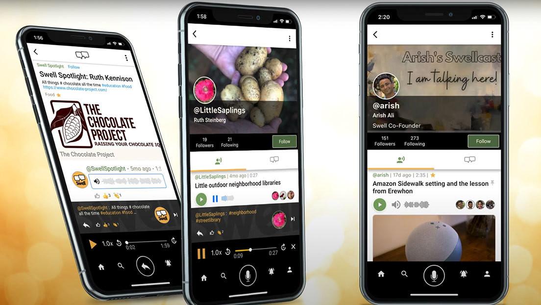 Llega Swell, la red social que solo permite hablar y responder con mensajes de voz