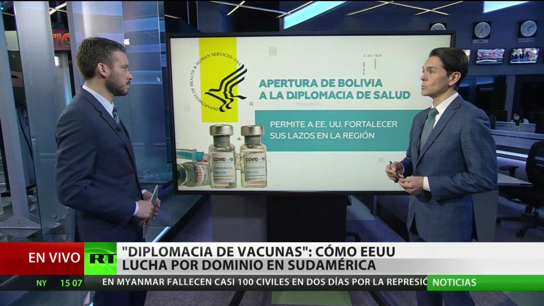 'La diplomacia de las vacunas': cómo EE.UU. lucha por el dominio en Sudamérica