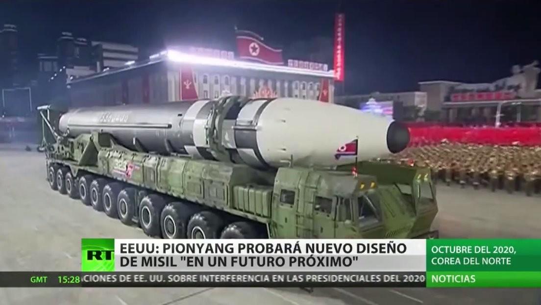 """EE.UU. estima que Corea del Norte probará un nuevo diseño de misil """"en el futuro próximo"""""""