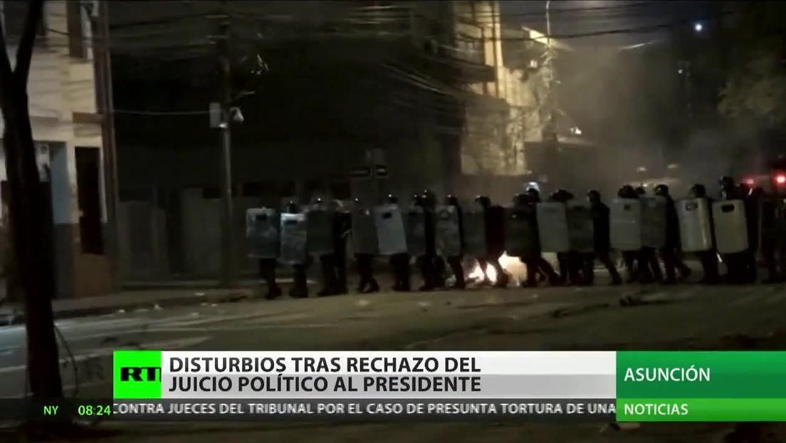 Disturbios en Paraguay tras el rechazo del juicio político al presidente