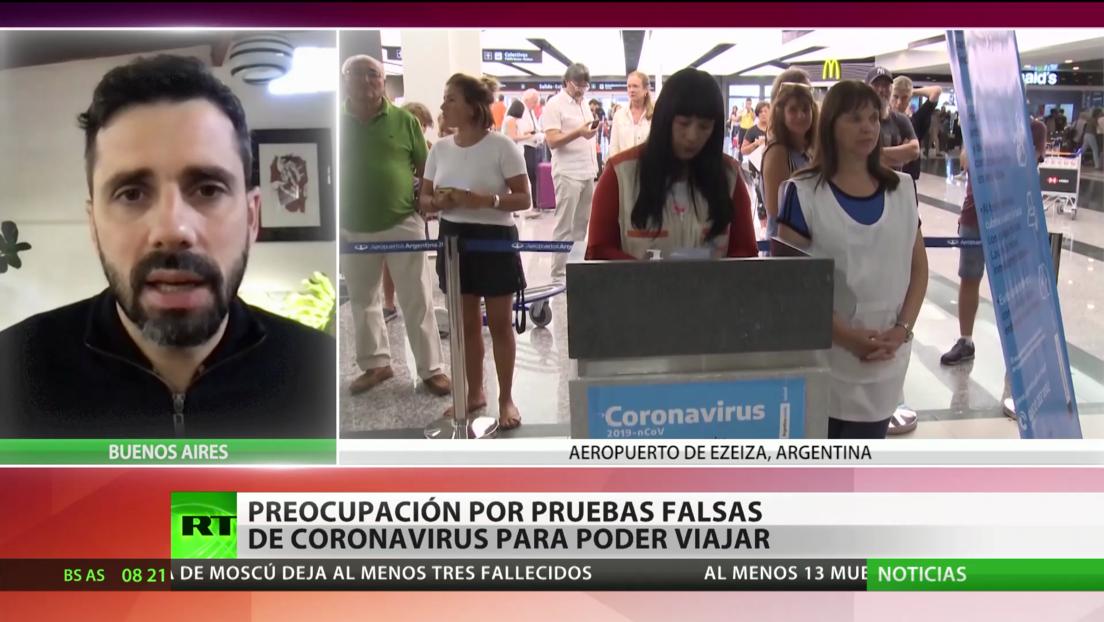 Preocupación en Argentina por pruebas falsas de coronavirus para poder viajar