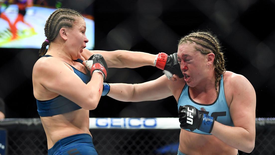 Una luchadora de la UFC se desmaya dos veces en pleno pesaje debido a una posible deshidratación por bajar de peso (VIDEO)