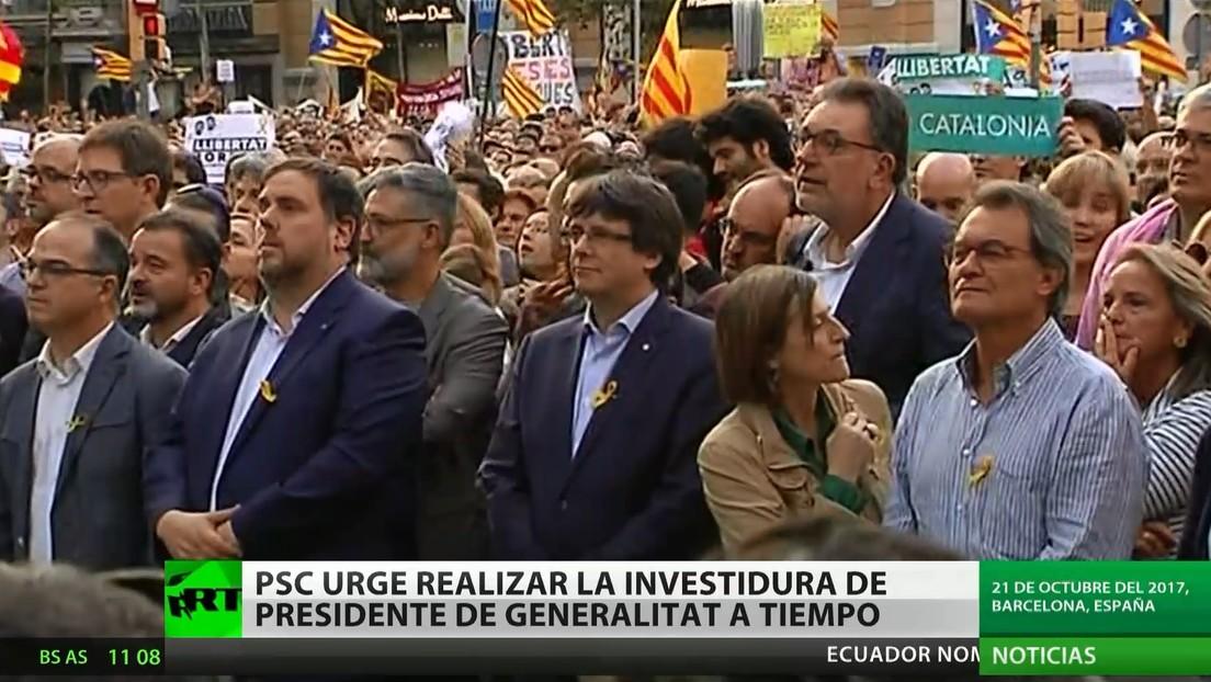 Cataluña: Piden realizar la investidura del presidente de Generalitat a tiempo