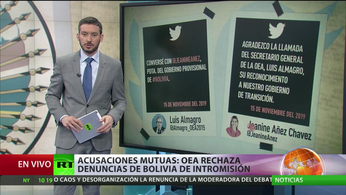 Acusaciones mutuas: OEA rechaza las denuncias de Bolivia sobre intromisión