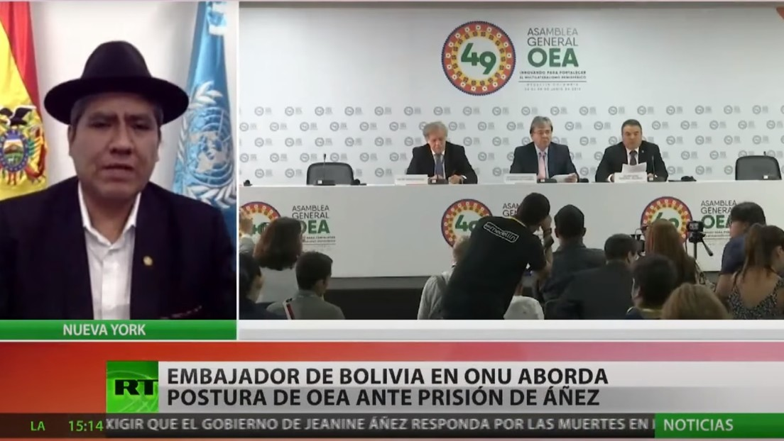 """Embajador de Bolivia ante la ONU: """"La OEA no tiene ninguna atribución para intervenir en los asuntos internos del país"""""""
