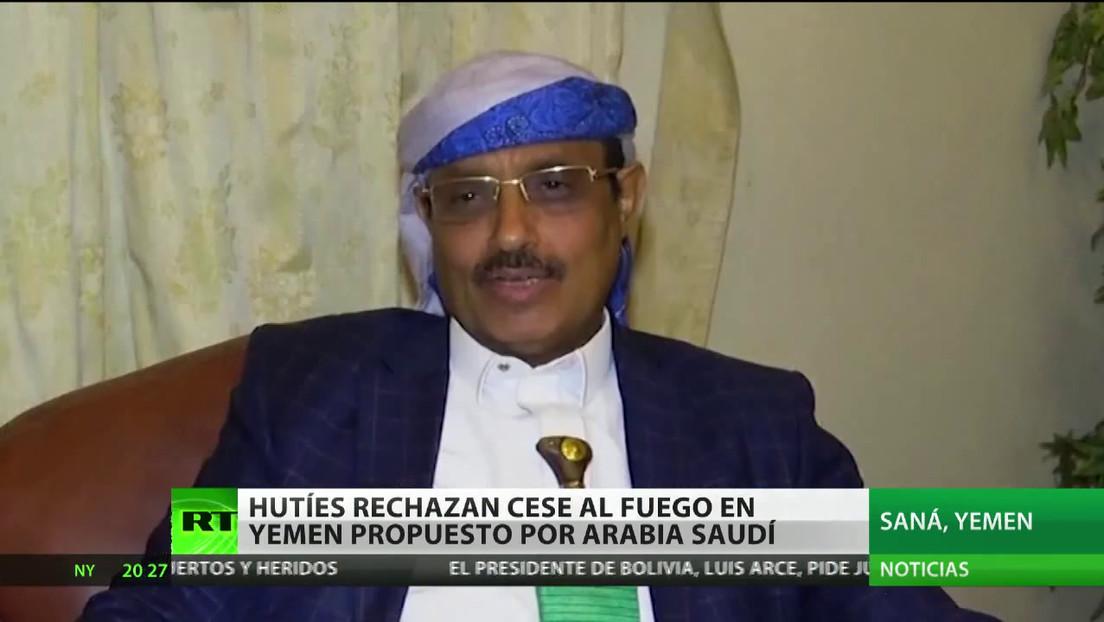 Los hutíes rechazan el cese al fuego en Yemen propuesto por Arabia Saudita