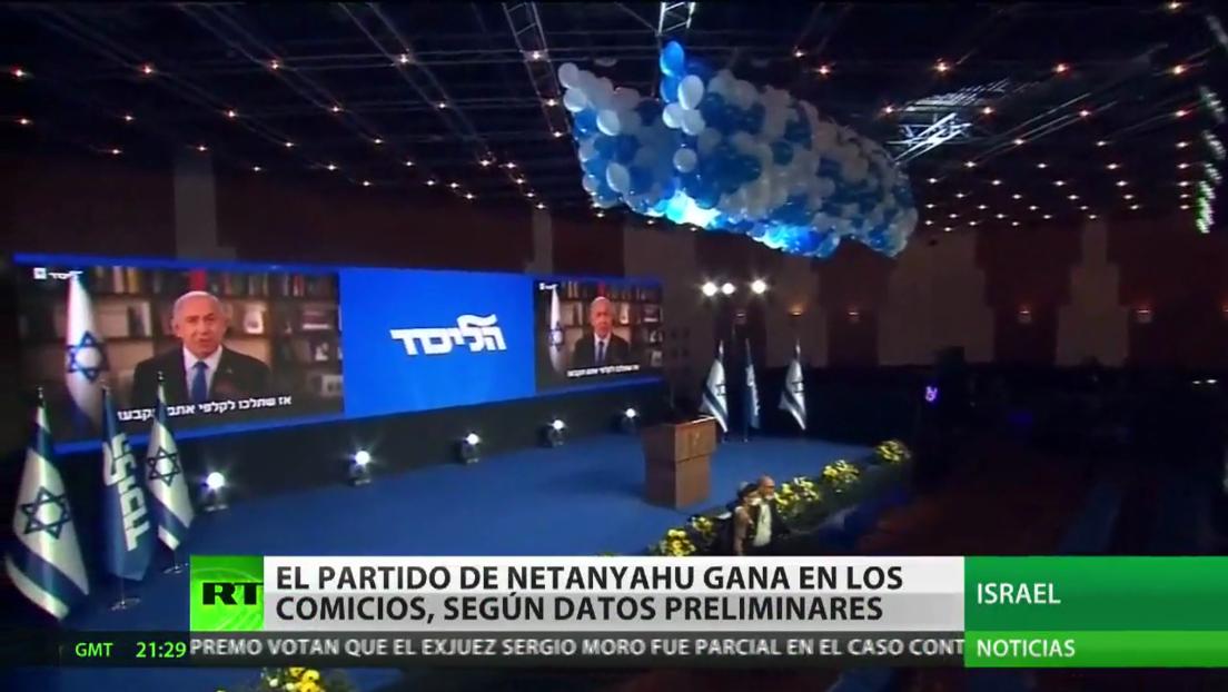 El partido de Benjamin Netanyahu ganaría las elecciones parlamentarias en Israel, según los datos preliminares