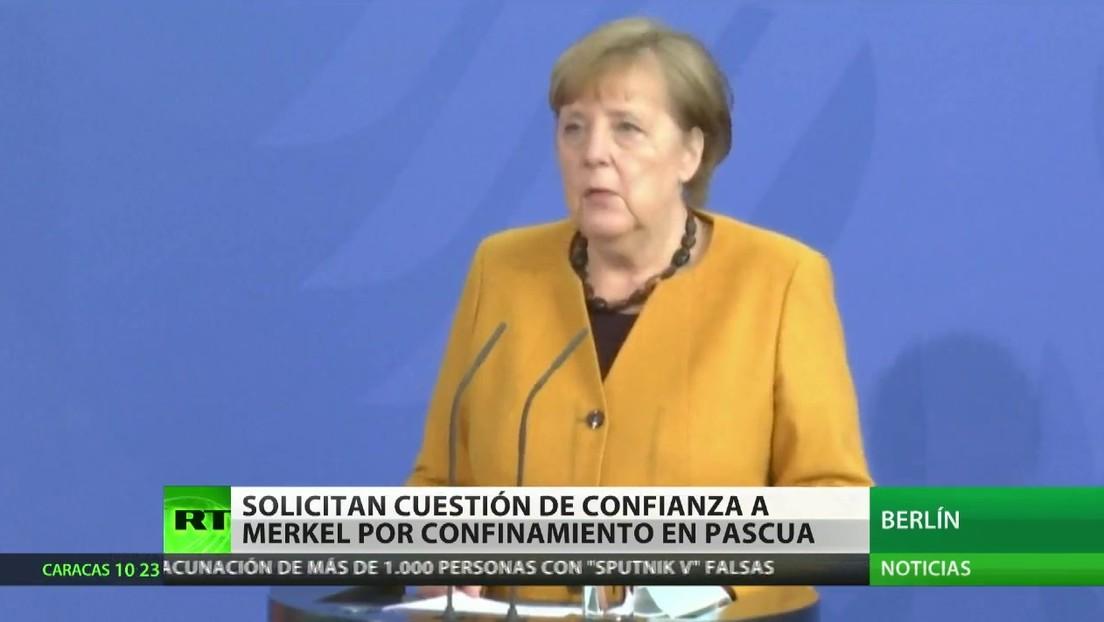 Críticas a Merkel por su intento de confinar a la población de Alemania en Pascua