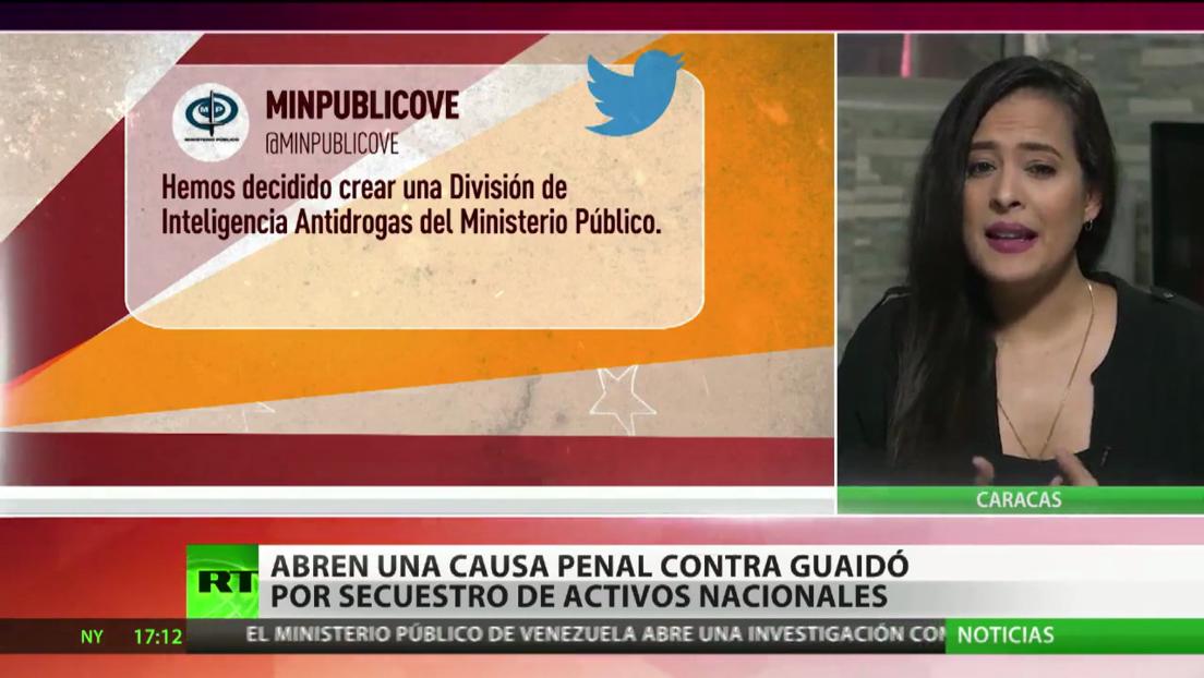 Abren en Venezuela una causa penal contra Guaidó por el secuestro de activos financieros
