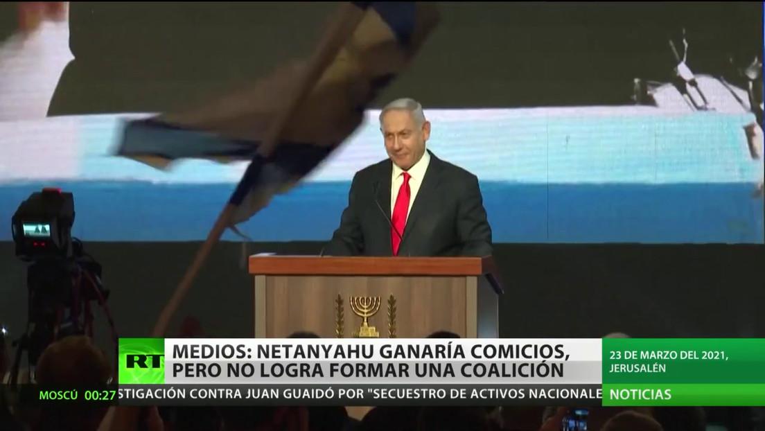 Medios: Netanyahu ganaría los comicios, pero no logra formar una coalición