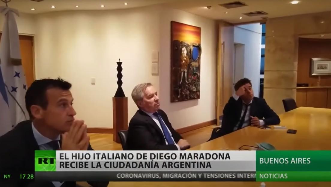 El hijo italiano de Diego Maradona recibe la nacionalidad argentina