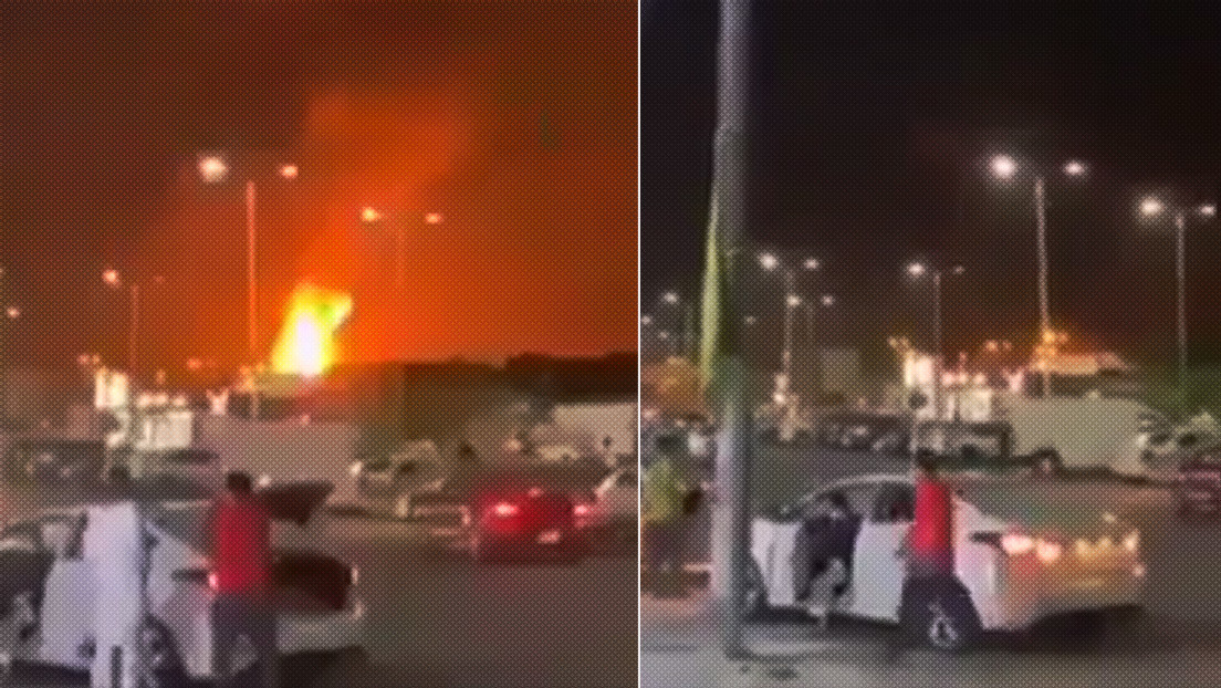 VIDEO: Arde un terminal petrolero en Arabia Saudita tras ser atacado con un proyectil lanzado por los hutíes