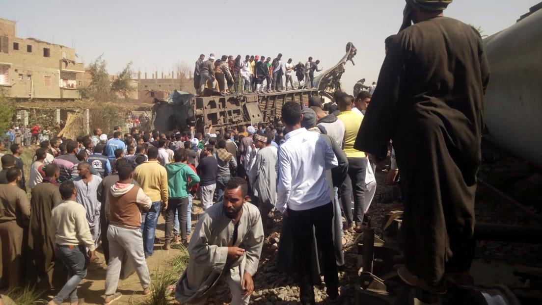 Colisión de dos trenes en Egipto deja 32 muertos y 108 heridos