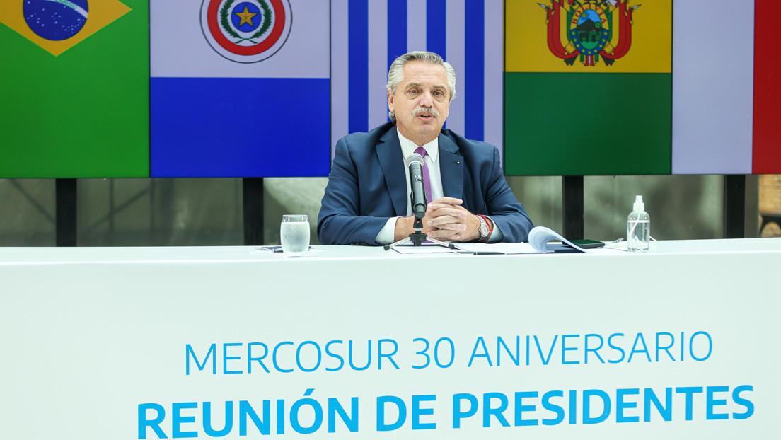 """""""Si somos un lastre, tomen otro barco"""": la advertencia de Alberto Fernández a Lacalle Pou al celebrar los 30 años del Mercosur"""