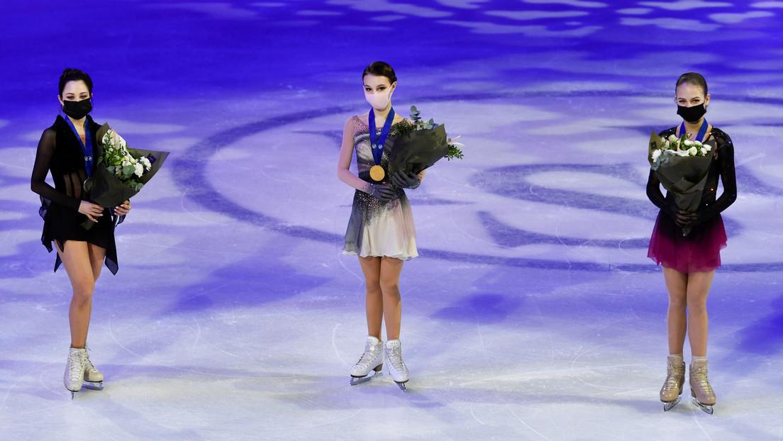 Por primera vez en la historia tres patinadoras rusas colman el podio del Mundial de patinaje artístico sobre hielo