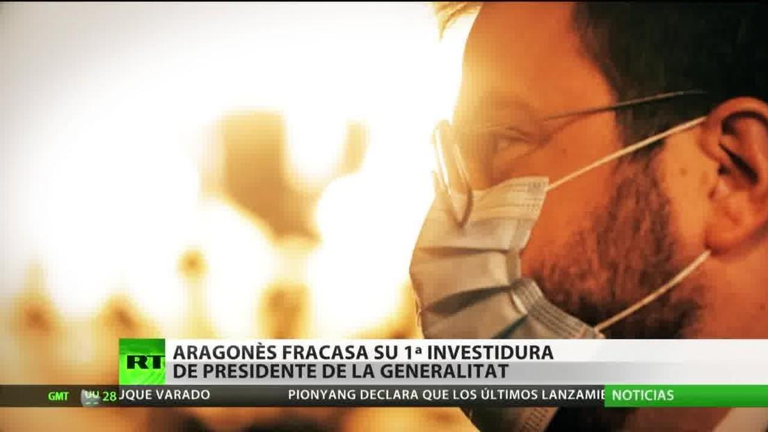 Pere Aragonès fracasa en su primer intento de investidura como presidente de la Generalitat de Cataluña