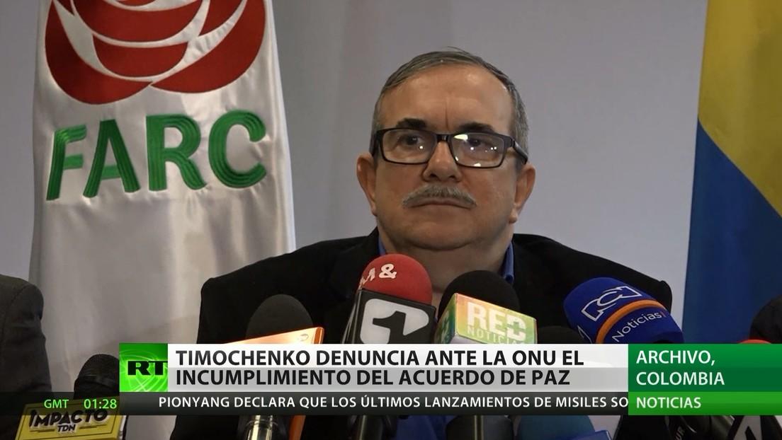 'Timochenko' denuncia ante la ONU el incumplimiento del acuerdo de paz en Colombia