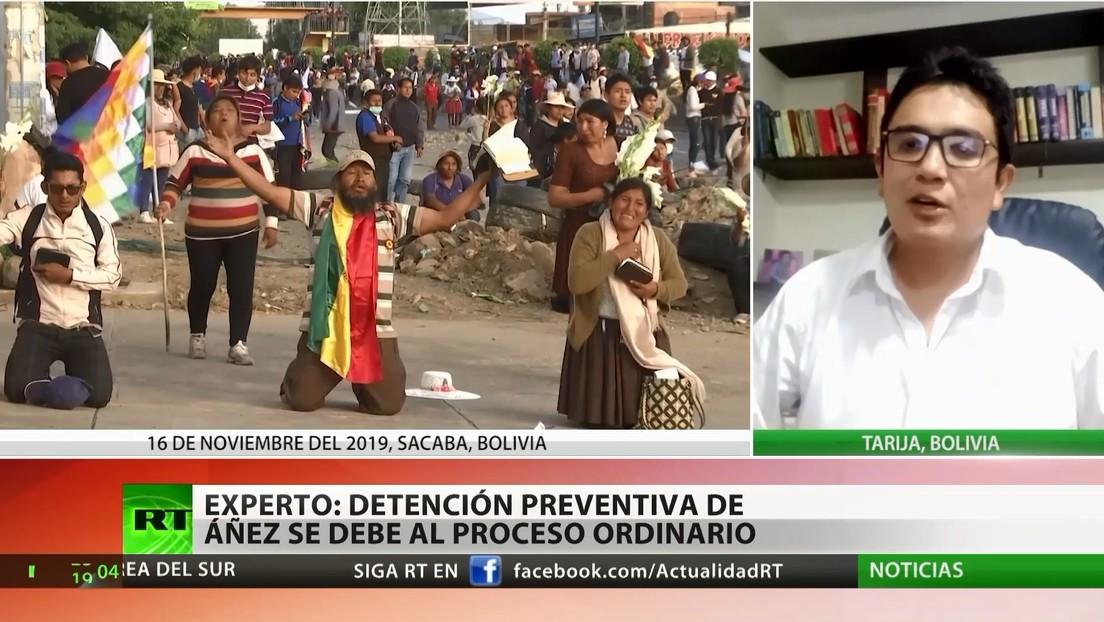 Abogado constitucionalista: La detención preventiva de Jeanine Áñez se debe a un proceso ordinario