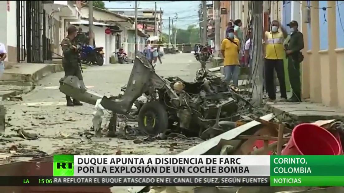 Duque apunta a una disidencia de las FARC por la explosión de coche bomba en Corinto