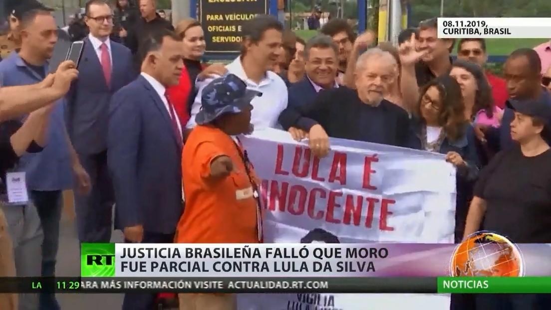 Justicia brasileña determina que el exjuez Sergio Moro fue parcial contra el expresidente Lula da Silva