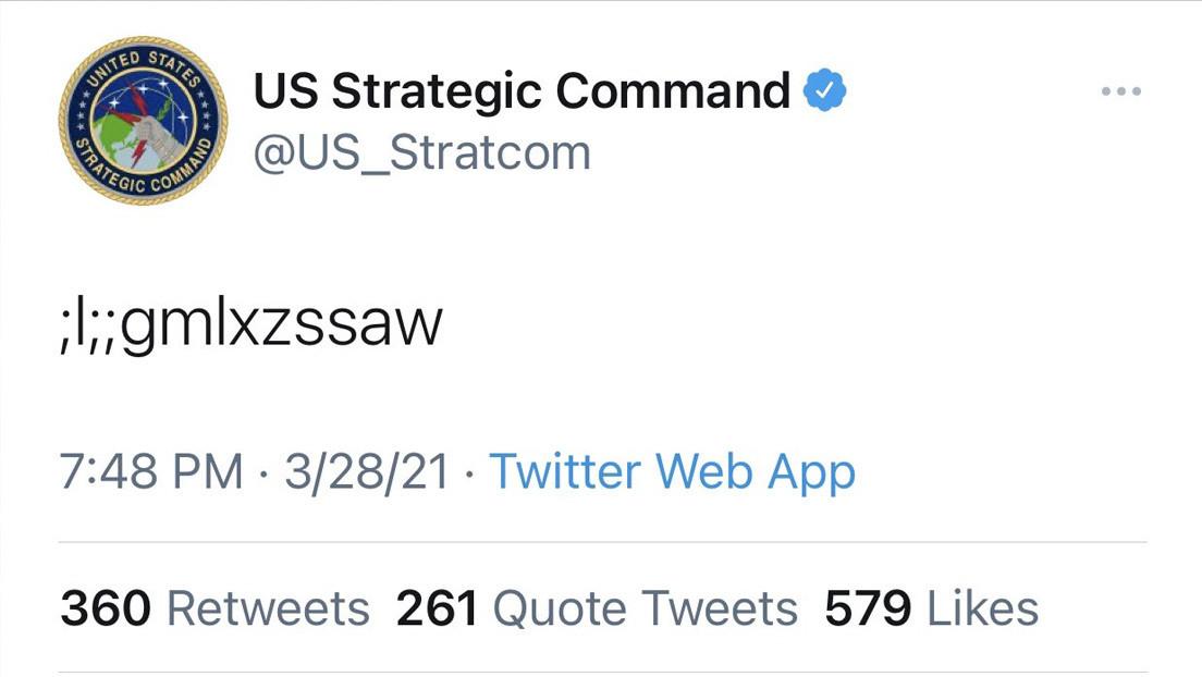 """""""¿Códigos de lanzamiento?"""": un enigmático tuit del Comando Estratégico de EE.UU. provoca pánico en la Red"""
