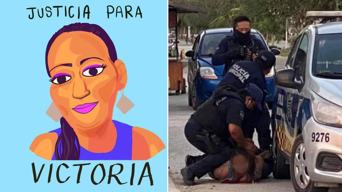 El asesinato de una mujer salvadoreña, sometida por policías de manera similar a George Floyd, conmociona a México