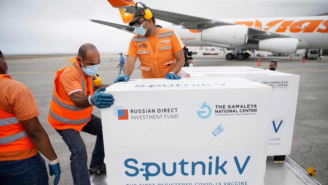 Venezuela recibe tercer lote con 50.000 dosis de la vacuna rusa Sputnik V