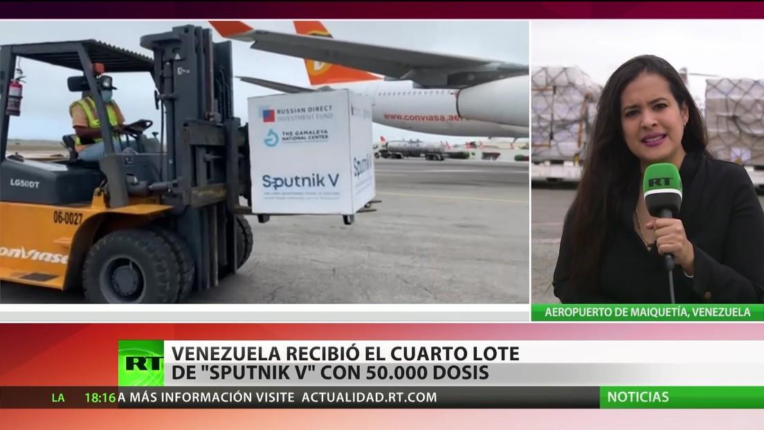 Venezuela recibió el cuarto lote de Sputnik V con 50.000 dosis