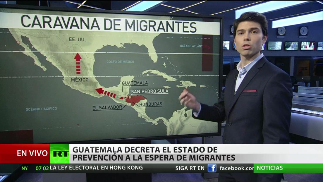 Guatemala decreta el estado de prevención a la espera de una nueva caravana de migrantes rumbo a EE.UU.