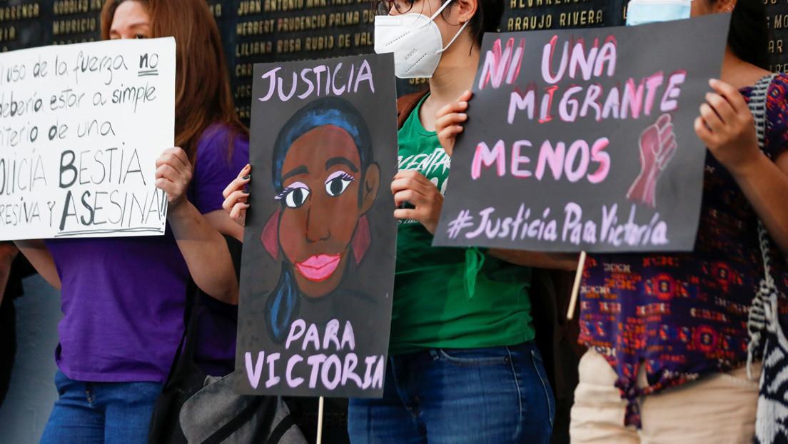 Revelan imágenes de los minutos previos al asesinato de la salvadoreña Victoria Salazar a manos de la policía mexicana