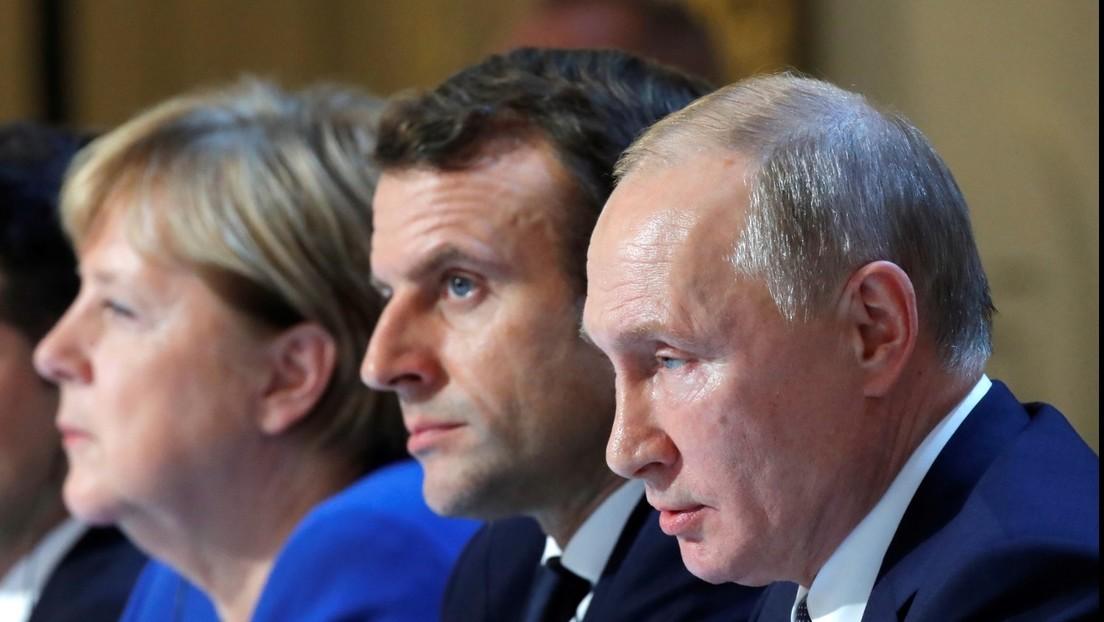 """Putin, Merkel y Macron conversan sobre """"las perspectivas de registro y producción conjunta de Sputnik V en la UE"""""""
