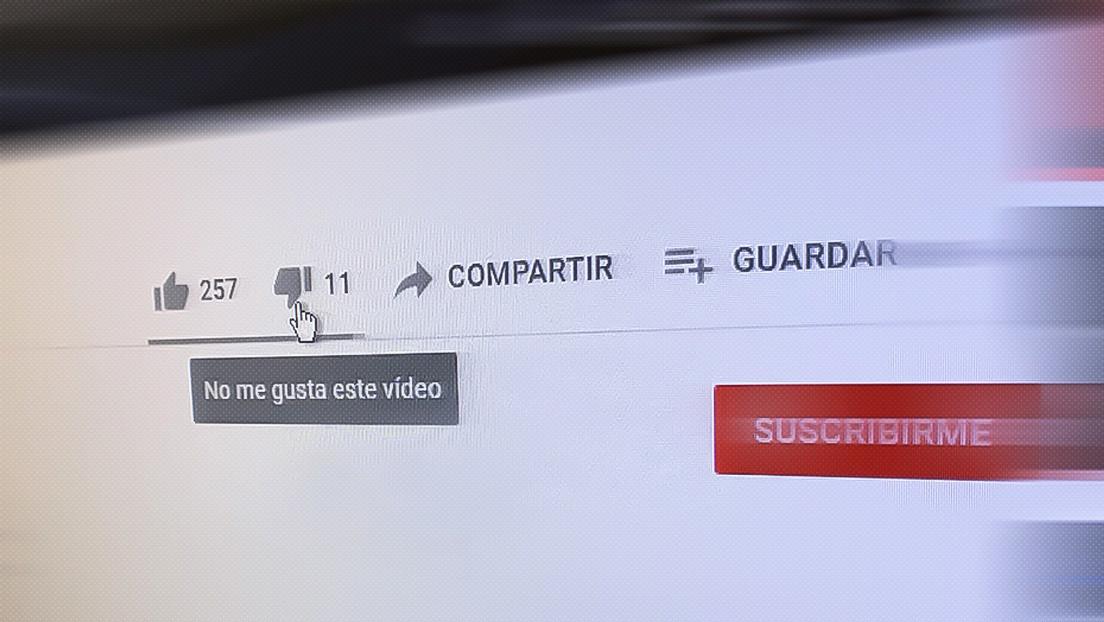 YouTube esconderá a manera de prueba el contador de los 'no me gusta'