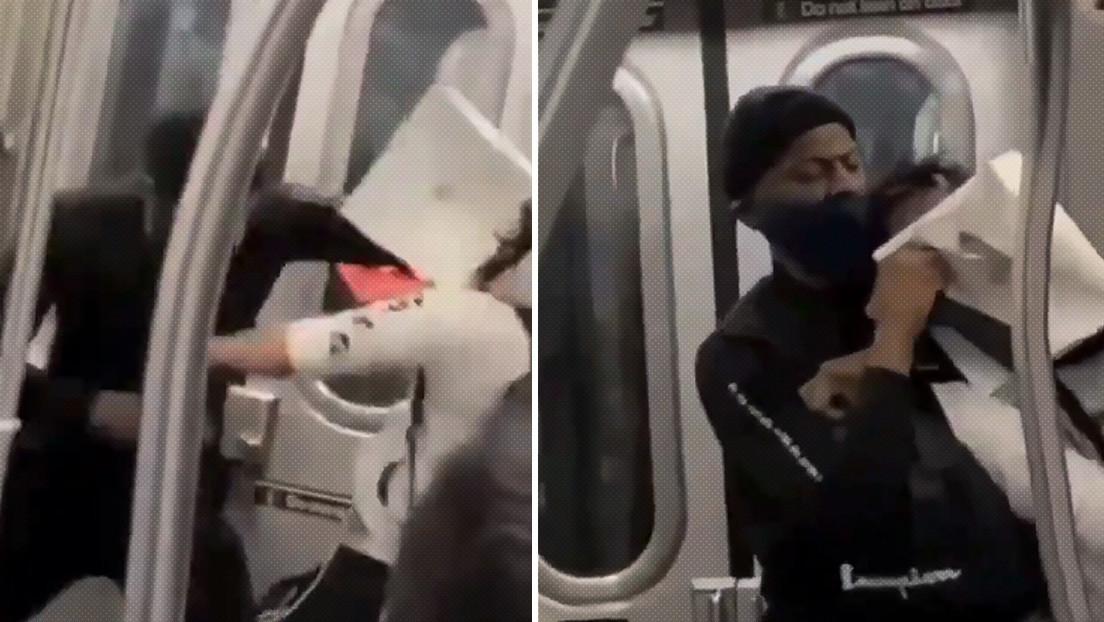 VIDEO: Un hombre da una brutal paliza y asfixia hasta dejar inconsciente a un asiático en el metro de Nueva York