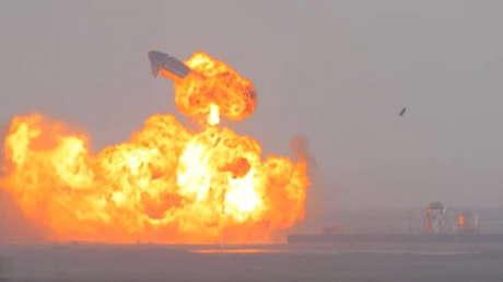 VIDEO: La nave Starship de SpaceX explota justo después de aterrizar
