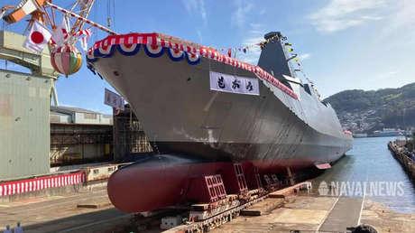 Japón bota el buque líder de la clase de fragatas de nueva generación Mogami