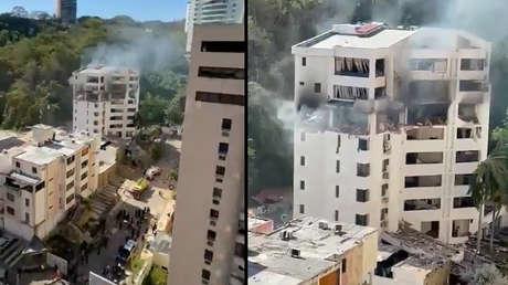 Múltiples lesionados en una fuerte explosión en un edificio de la ciudad venezolana de Valencia (VIDEOS)
